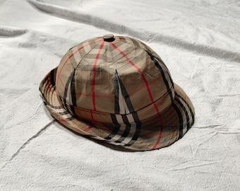 daafbad354d0f5 Vintage Burberrys Nova Check Rain Hat