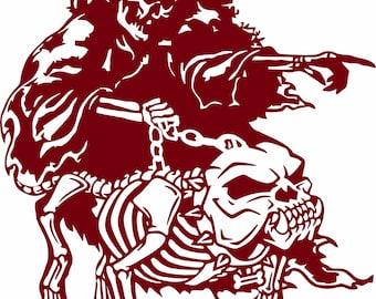 #110 IRON CROSS Windshield Decal Sticker Tribal Graphic