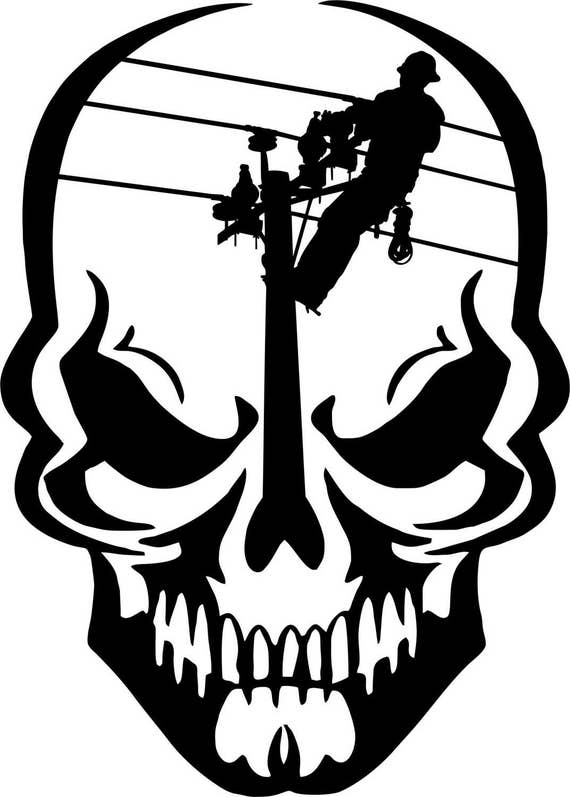 "Lineman Electric Pole Climber Funny Vinyl Decal Sticker Car Window laptop 6/"""