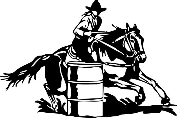 COWGIRL UP~ BARRELL RACING ~ RODEO Decal Sticker cowboy