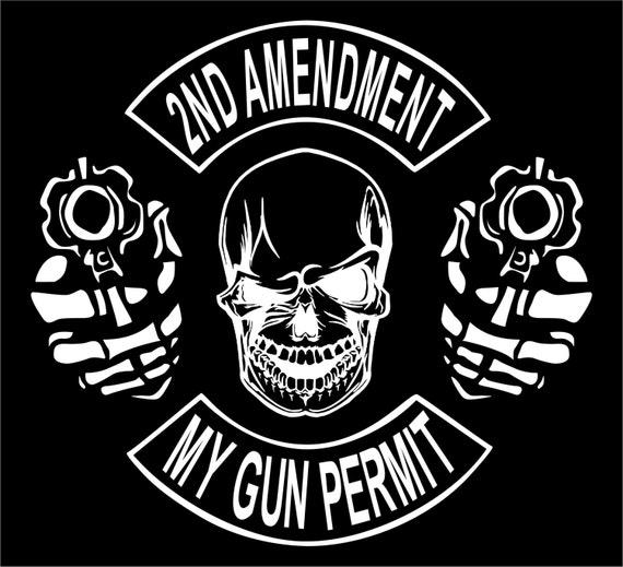 Hunting 2nd Amendment Guns Ammo Skull Vinyl Decal Truck Car Sticker Laptop