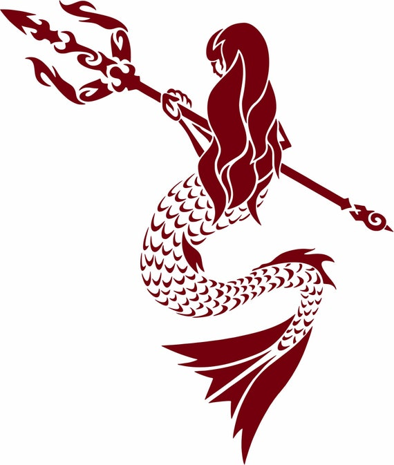 Tribal Mermaid Fantasy Ocean Girl Car Truck Window Laptop Vinyl Decal Sticker