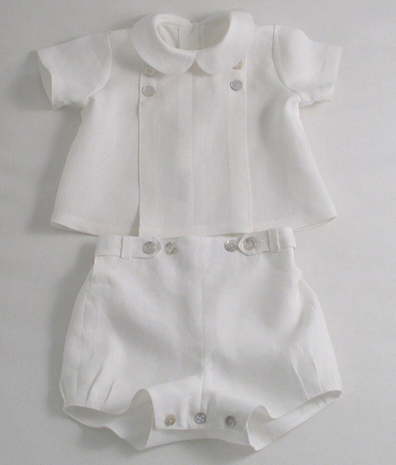 af920bd8e White Linen suit for a Baby Boy   Etsy