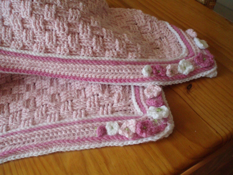 Crochet Pattern For Basket Weave Baby Blanket Crib Blanket Etsy