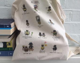 Cute Bee Literature Book Bag