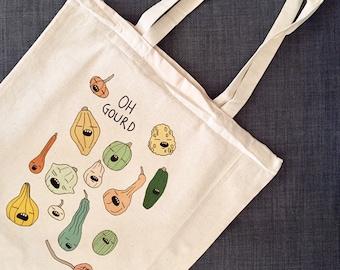 Pumpkins and Squash Vegetable Pun Bag
