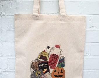 Halloween Horror Movie Food Groceries Bag