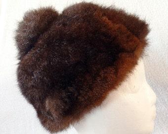 Vintage Flemington Furs Soft Skull Cap Hat