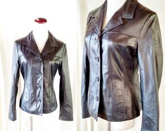 Vintage Wilsons Leather Maxima Black Jacket. Small 837fbc19415b