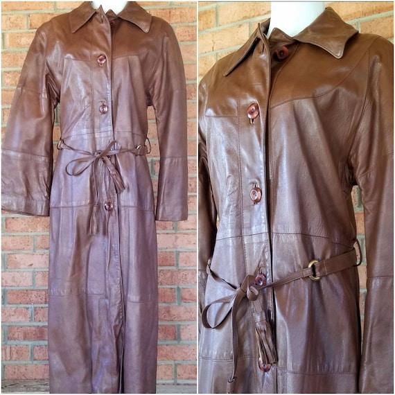 Vintage 24K Dan Di Modes Brown Glace Lamb Leather