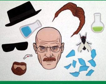 Create Your Own Heisenberg Breaking Bad Magnet Set