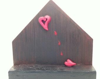 Aching Heart -Mixed Media Piece