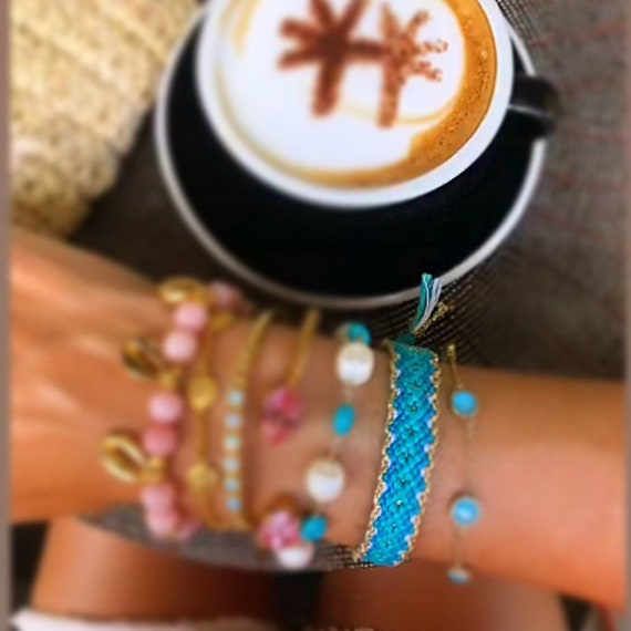 Wayuu bracelet Wayuu Handwoven Friendship Bracelet Mexico bracelet Turquoise /&Blue Friendship bracelet