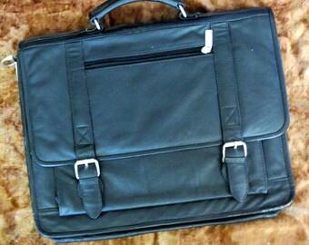 8e10d3ff7d Vintage briefcase - Mens black leather top handle case