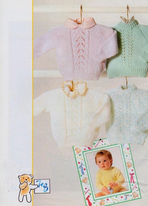 2 patrones que hacen punto de vintage bebé lactante 2 fácil | Etsy