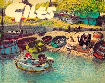 Set 4 Giles Comic Cartoon Books- Vintage 1970s Collector Items