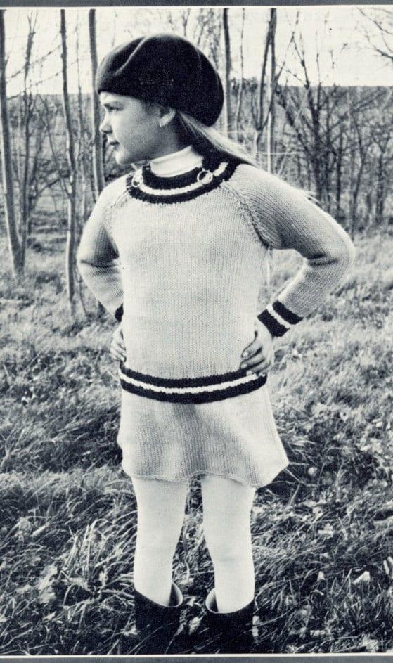 2 vintage que hace punto patrones chicas cremallera suéter y   Etsy