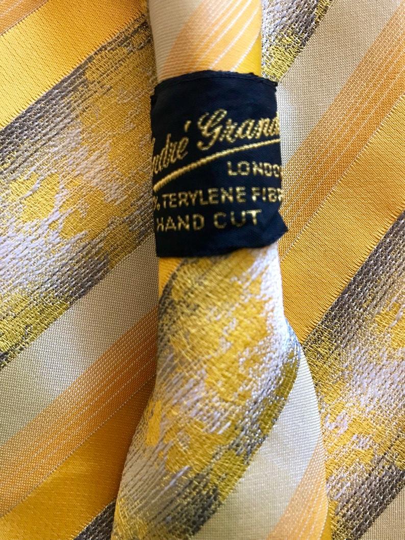 wide made in London 1970s Vintage retro mens neck tie