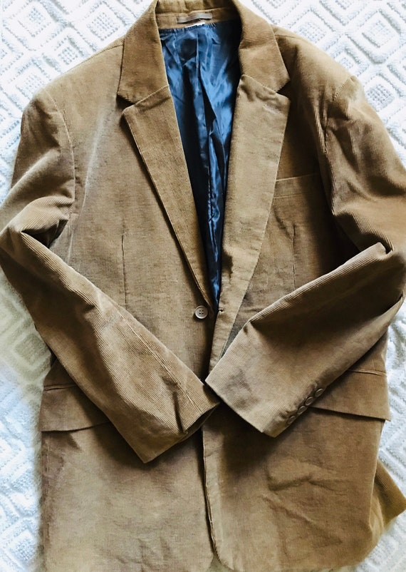 Men's corduroy brown jacket - vintage, extra large