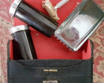 Vintage mens shaving and grooming kit- 1950s
