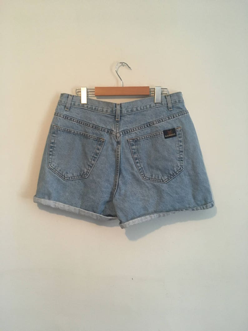 90s high waisted denim shorts vintage- size 30 Manager jean shorts