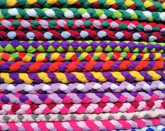 Braid Fleece Dog Lead Leash Braided Rope Small Medium Large Dogs Puppy Machine Washable fancy ALL COLOURS Comfortable