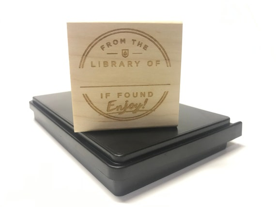 Rubber Book Stamp and Ink Pad