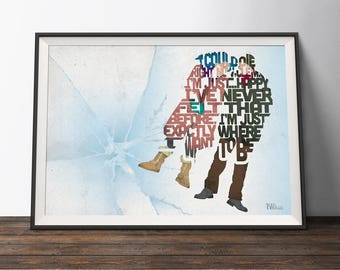 Eternal Sunshine of the Spotless Mind Movie Poster - Typography Quote Film Art Print. Love word art geek gift for Him or Her
