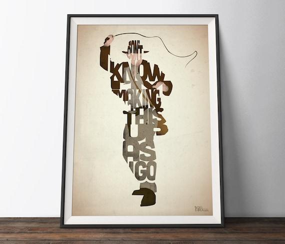 Poster A2 Indiana Jones Harrison Ford Pelicula Film Cartel Decor Impresion 03