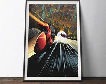 Akira Inspired Poster - Limited Edition of 50 Anime Manga Movie Art Poster. Japanese Animated Cartoon Film Illustration Art Print.