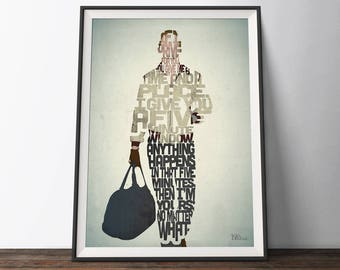 Drive Movie Poster - Typography Quote Film Art Print. Ryan Gosling Car word art geek gift for Him or Her