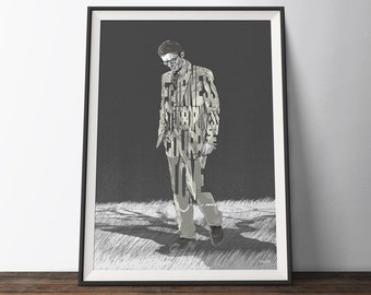Atticus Finch Movie Poster - Black and White Typography Quote Book Art Print. To Kill A Mockingbird Gift for Him or Her.