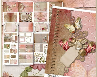 Butterfly & Lace Digital Printable Journal Kit