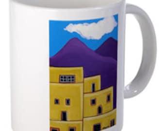 Coffee Mug- Adobe Village - 15 oz.-By Artist A.V.Apostle