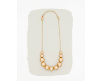 simple necklace // rose gold pearls