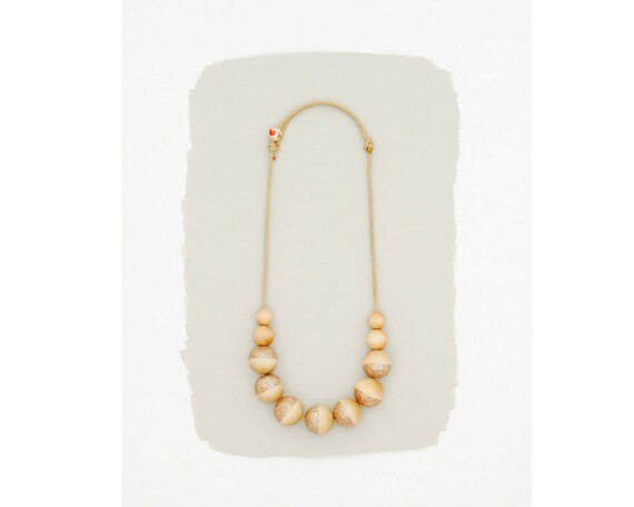 simple necklace // dip dyed glitter // rose gold