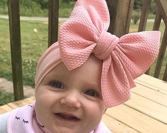Big Bow Birthday Bow Hair Clip Baby Shower Gift Glitter Baby Blue Hair Bow Infant Bow Nylon Headband Newborn Bow Girl Headband