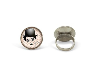 Chaplin Jewellery Modern Times Comes Air Dry Modelling Clay Charlie Chaplin Ring Gift For Charlie Chaplin Lover Movie Lover Gift