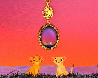 Simba and Nala - Savannah - Lion King necklace