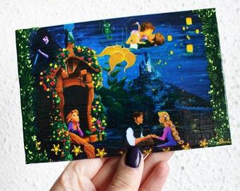 Rapunzel in Love Mini canvas print