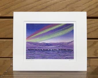 "Matted Giclee Print 8""x10"": Arctic Dawn"