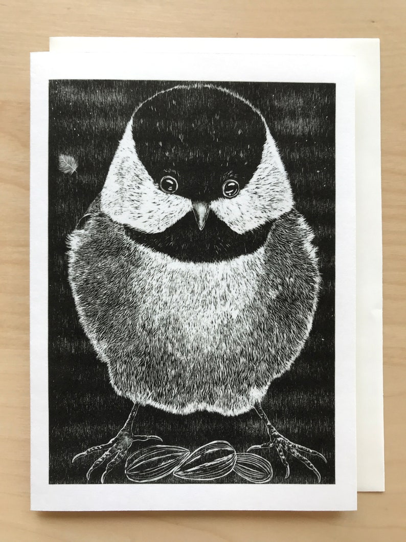 Mighty Chickadee 5x7 Note Card
