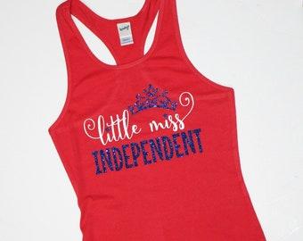 girls - 4th of july - tank top - little miss - toddler - shirt - patriotic - tshirt - bodysuit - kids