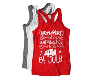 girls - 4th Of July - tank top - kids - fourth of July - tshirt - Graphic Tee -  shirt - toddler