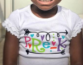 Kindergarten Shirt for Girls, kindergarten outfit, back to school shirt, first day of school, kindergarten shirt, 1st day of school