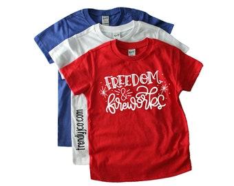 toddler - shirt - 4th of July - baby boy - unisex - bodysuit - tshirt - freedom - fireworks - kids - outfit - boy - girl