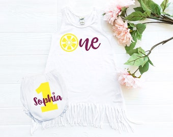 1st birthday outfit - lemonade birthday - birthday outfit - first birthday - lemonade outfit - 1st birthday girl - lemon - cake smash outfit