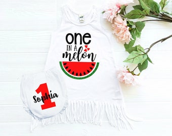 one in a melon - 1st birthday outfit - watermelon birthday - first birthday - watermelon outfit - 1st birthday girl - cake smash outfit