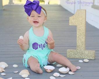 1st birthday girl outfit - mermaid - birthday outfit - mermaid party - little mermaid - mermaid birthday - mermaid first birthday outfit