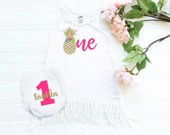 pineapple - 1st birthday outfit - girl - pineapple party - Hawaiian - pineapple outfit - 1st birthday girl - cake smash outfit - luau out
